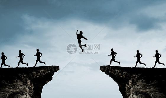 撑杆跳断崖图片