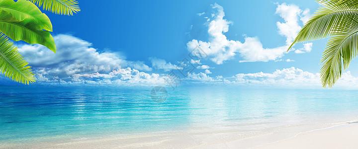 大海沙滩海报图片