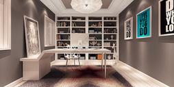 北欧简约时尚书房设计效果图图片