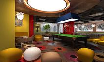办公室休息厅 室内设计效果图图片