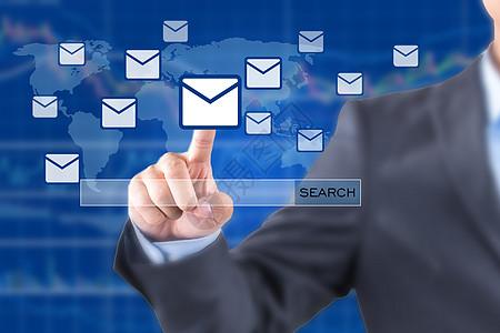 商务男手触信息科技图片
