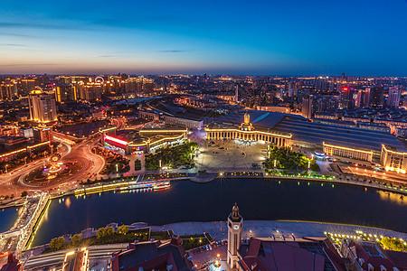 俯瞰天津站图片