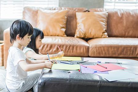 美好生活孩子们在画画图片