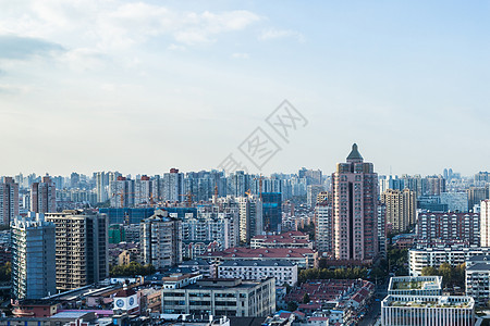 城市楼房居民楼风光全景图 图片