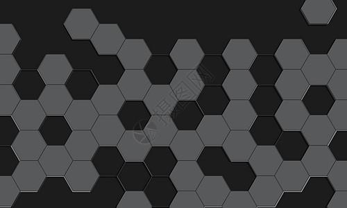 黑色大气六角背景图片