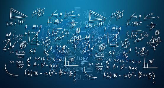 黑板上的数据图图片