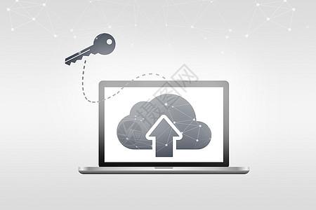 电脑科技云图标图片