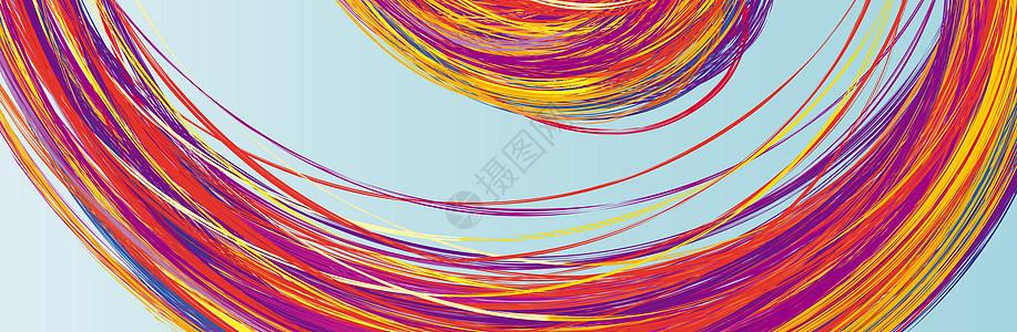 艺术彩色曲线背景图片