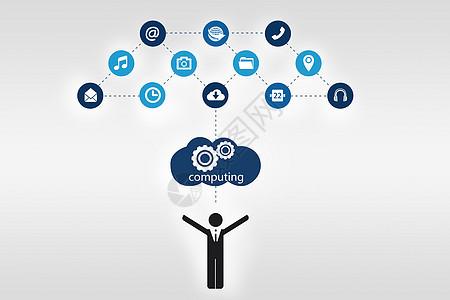 人与科技云图标图片