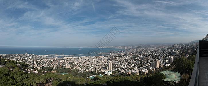 以色列海法市全景图图片