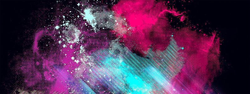 色彩溅射图片