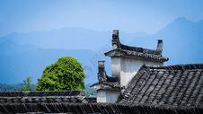 徽派古建筑老房子屋顶图片