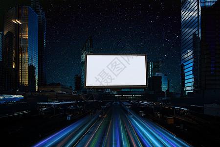 夜色中的黄金广告位图片