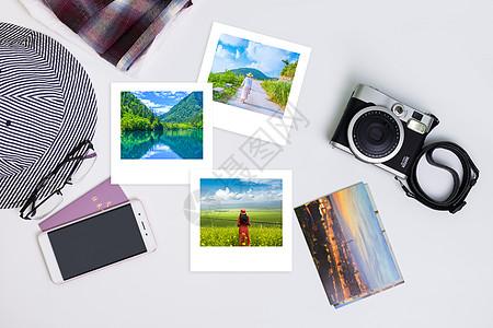 整理旅行的拍摄相册图片