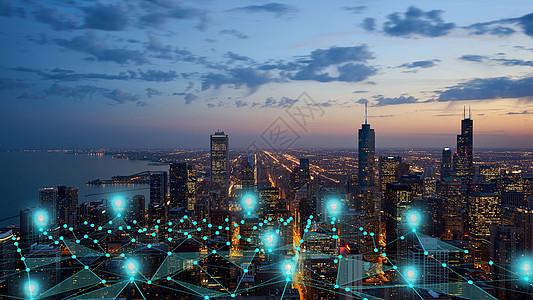 定位城市图片
