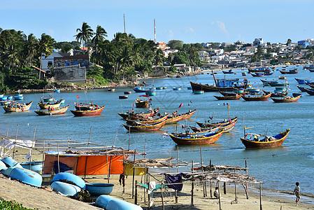 越南美奈渔村图片