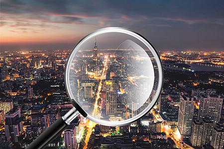 气泡中的城市图片