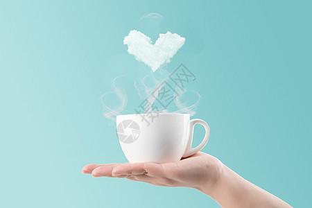 杯子爱心云图片