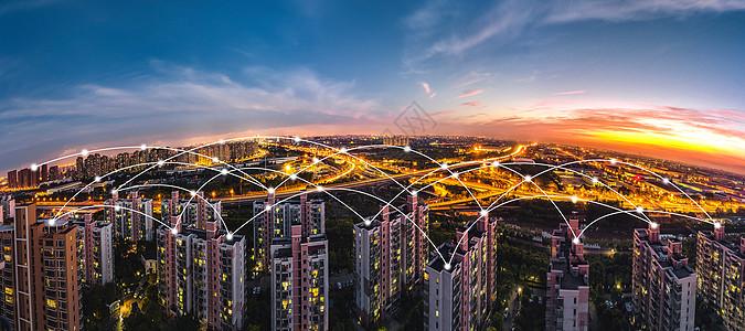 科技线条城市建筑图片