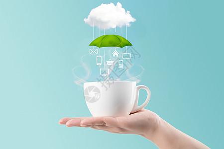 杯子云朵图片