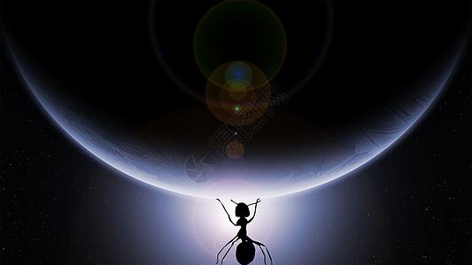 撑起地球的小蚂蚁图片