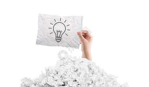 废纸里产生的创意图片