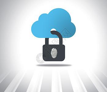 云端指纹锁图片