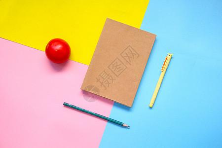 书本色彩静物素材图片