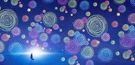 梦幻蓝色科技背景图片