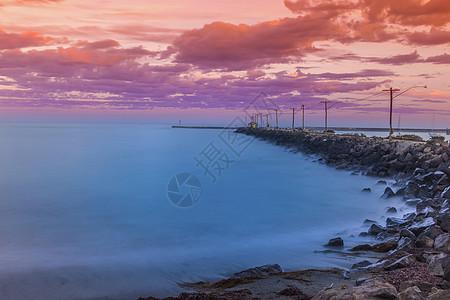 日落海边建筑摄影图片免费下载_背景/素材图库大全