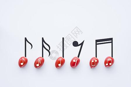带音乐符号的圣女果图片