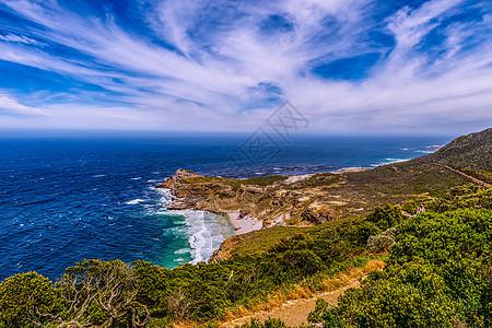 远眺南非好望角海峡图片