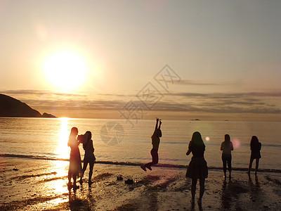 夏天 海边 日出高清图片