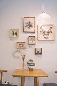 咖啡屋背景墙图片