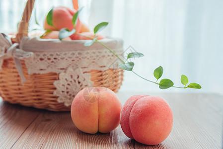 夏日水果水蜜桃桃子图片