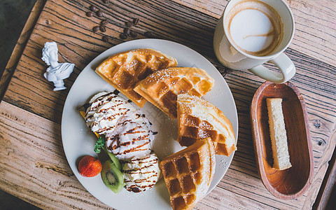 午后咖啡甜点图片