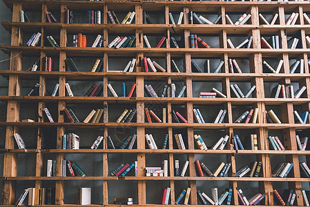 咖啡屋书架图片