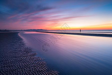 夕阳下的背影图片