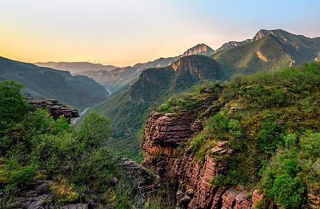 云台山的清晨图片