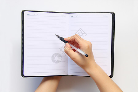 白色背景 记事本空白处写字图片