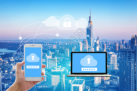 电脑手机城市图片