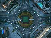 城市地标俯拍图片
