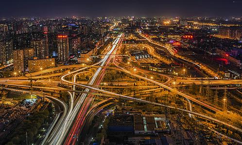 中国北京城市立交桥夜景图片