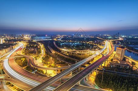 北营门桥夜色图片