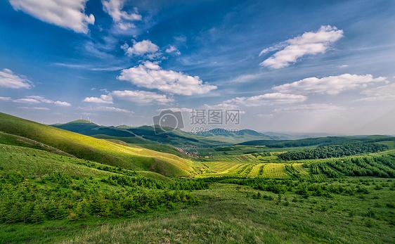 张北草原天路美景图片