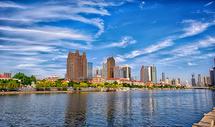 天津海河岸边商务区图片