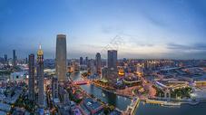 天津海河全景图片