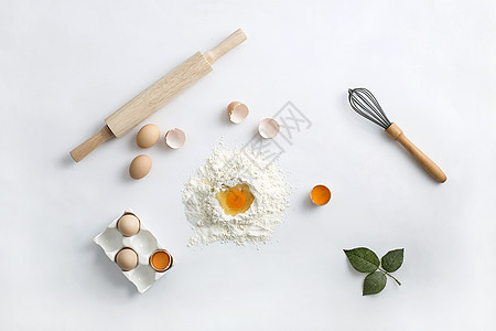 食品制作材料鸡蛋面粉图片