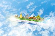 乘飞机旅行去泰国旅游图片