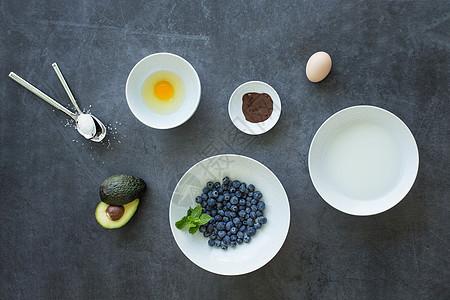 蛋挞制作材料图片